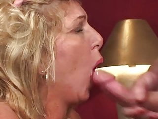 Blonde Gilf Fucked and Jizzed at Casting