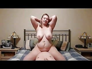 Amateur busty chubby riding cock