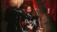 Brunette hottie bound for some BDSM action