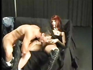 Booted Redhead Girl Gets Served