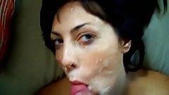 wife takes a nice facial