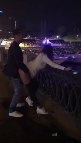 Russian Couple Fuck on the street