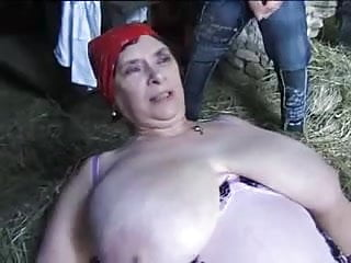 Big Grandma on the farm