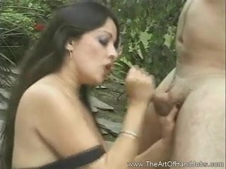 Amateur wife takes two black bulls