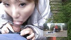 Horny MILF Mari's park exposure cum in mouth and creampie