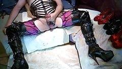 Boots und Leder Outfit