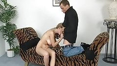 Blonde girl takes a huge load
