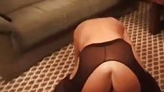 My MILF exposed Granny in stockings playing with vibrator
