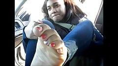 Hood MILF Pink & Silver Toes