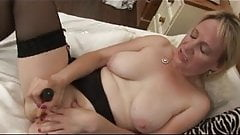 Saggy Breasted Blonde Milf in Stockings Toys