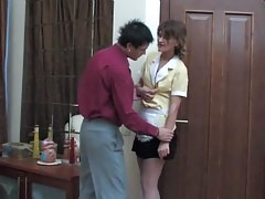 Russian mature Christie maid