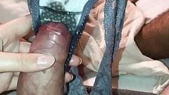 Teen gf using panty to make me cum