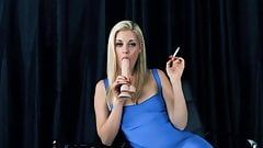 Blonde Charlotte stokely smoking fetish