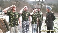 wild military gangbang party