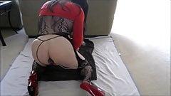 LisaSpandex Butt Plug Fucking