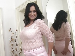Mature Busty Booty Mom Takes Big Rubber Cock