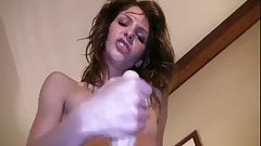 Lola jerks you off with a sweet handjob
