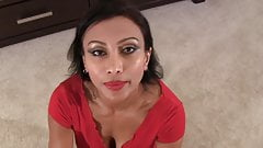 British Indian milf gives step son Blow job (Pov)