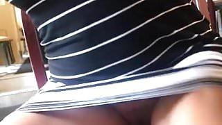 Perfect MILF Upskirt No Panties
