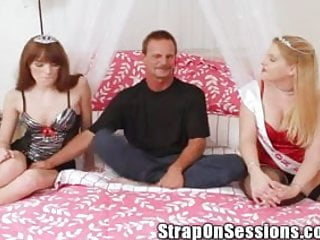 Roger Gets Pegged By The Strap On Princess & Her Hot Friend!