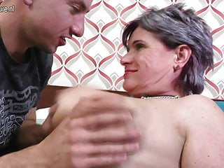 Lucky son fucks mature not his mom