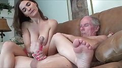 She Jerks Off BFs Dad