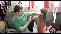 Silky Hair Pulling and Brushing, Long Hair, Hair