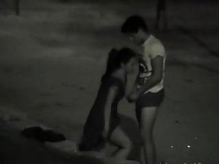Teens caught fucking at night in a park