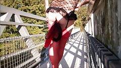 aurelia flashing fucking god on bridge and cuming