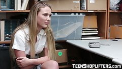 Naughty shoplifter Alyssa Cole hammered in office's Thumb