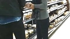 Great ass candid in shop, in jeans tight ass