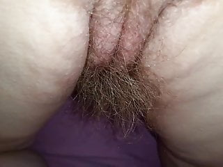 wife real hairy pussy, asshole, asscrack & 8'' long pube