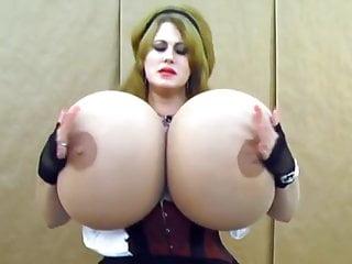 Large tits babe loads milk