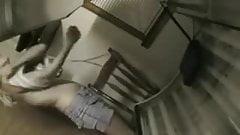 Tanning room spycam - tottooed blonde rubs.flv
