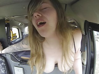 Old pervert taxi driver loves big titties