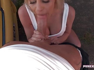 PURE XXX FILMS Busty Sienna Day fuck the mechanic outdoor