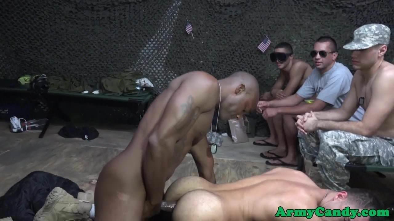 Black Army Sergeant Assfucks Bloke