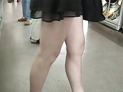 See-throught-skirt in parking area