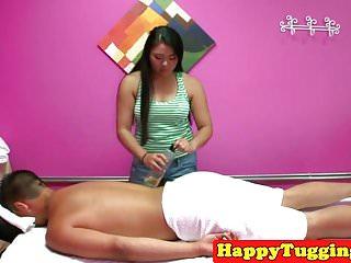 Asian masseuse caught doing 69 on spycam