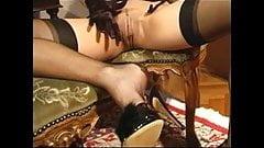 Caren in stockin