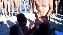 Voyeur..Swingers At A Beach With Many Onlookers #1