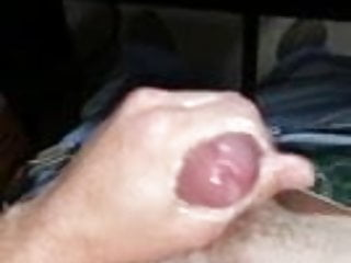Me stroking another load of cum from my hard cock