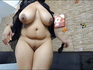 Huge Hangers On This Chubby Latina