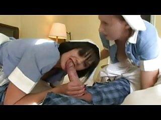 British Milf In Stockings In A Ffm Dressed As A Nurse