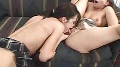 cute lesbians enjoy eating