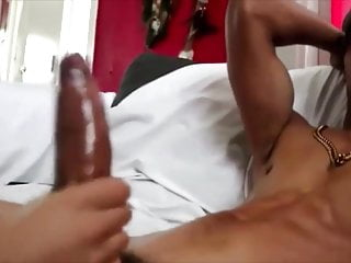 Big cock gets massage with big cumshot