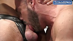 Muscular Leather Dudes Fuck During Photoshoot
