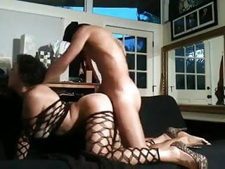 Hot French Arab Babe In Fishnets Is Fucked In The Ass