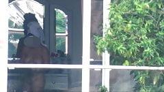 window voyeur hot teen nude after shower