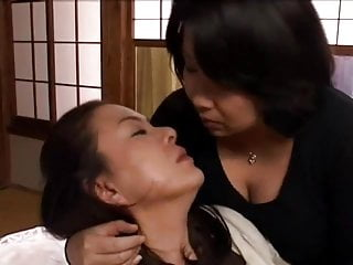 Middle-Aged Lesbians Kissing and Boob Licking